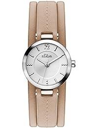s.Oliver Damen-Armbanduhr Analog Quarz Leder SO-3119-LQ