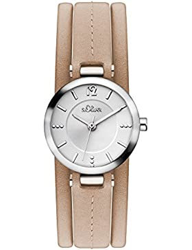 s.Oliver Damen-Armbanduhr Analog Quarz Leder SO-3119-LQ