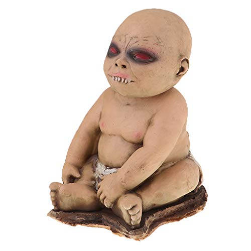 T TOOYFUL Rote Augen Doppelköpfe Creepy Puppe Für Halloween Requisiten Party Decor - # 4