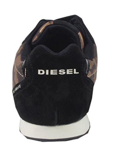 Diesel , Low-top femme Marron - Braun Camouflage
