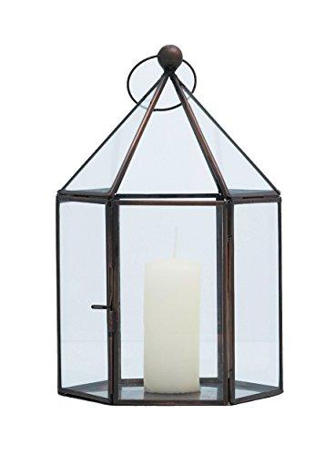 Comprador Bazaar Hecho a Mano Moderno Home Deco Luz Clara lámpara de Farol de jardín Interior de Cristal, Transparente