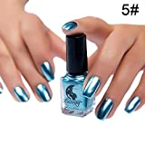 Eternitry Metallic Nagellack Spiegel Radiant Glitter Bunte Shiny Lack Maniküre Metall Nagellack Flash Base Nail Art für Frauen Mädchen