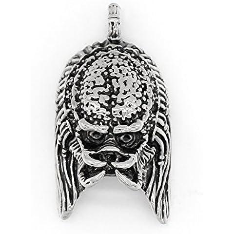 ICONIC Joyería de acero inoxidable colgante de collar de la personalidad creatividad guerrero Jedi de Star Wars de los hombres