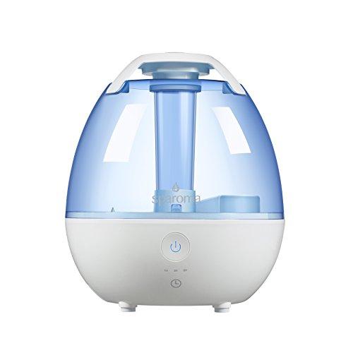 Humidificador sparoma, 2L ultrasónico raumbefeuchter de material antibacterianas fría–Humedecedor de vapor con temporizador ajustable para dormir, accesorios y Baby de habitación de los Niños