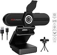 Ultra HD Pro 4K Webcam,PTZ VISION 8mp 90 Degree USB 2.0 Camera for Video Streaming on Desktop PC Laptop Comput
