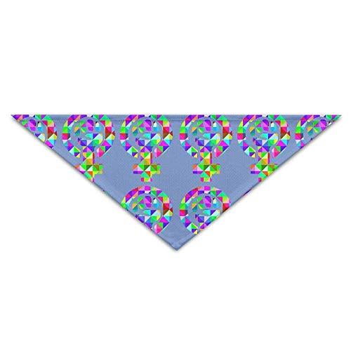 Wfispiy Cute Geometry Fist Man Signal PrintingDog Birthday Pet Bandana Collars for Dogs and ()