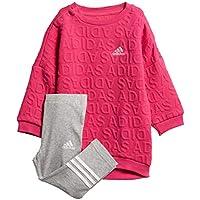 Adidas Unisex Baby Sweat Dress Set Chándal, otoño/Invierno, Unisex bebé, Color Real Magenta/White, tamaño 74