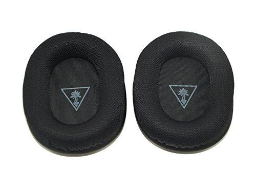 Sindery, cuscinetti copri-auricolari di ricambio in memory foam, compatibili con cuffie Turtle Beach XO Four XO 4 - Colore:nero