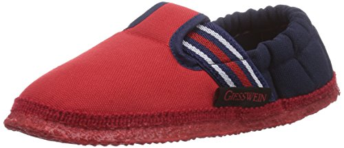 Giesswein Aichach, Pantofole Unisex - bambino, Rosso, 33