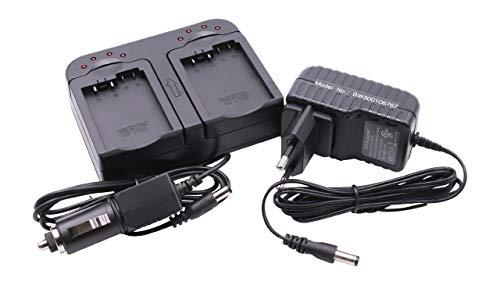 Schnellladegerät Ladegerät Ladeschale dual 2-Fach inkl. Kfz für Akku LP-E8, Klic-7002 wie Canon EOS 550 550D 600D 650D 700D Kodak Easyshare V530 V603 - Kodak Canon Eos