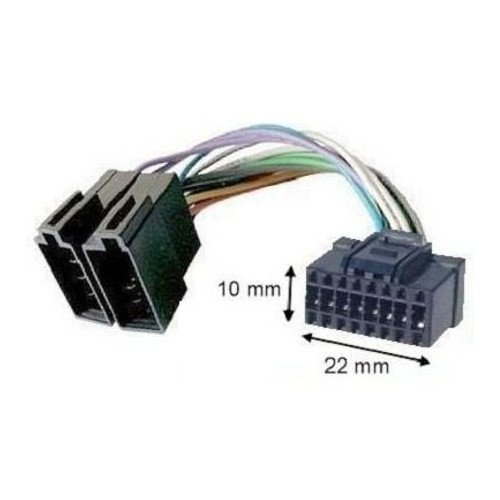 Adapter Kabel ISO Autoradio Alpine Schwarz 16pins