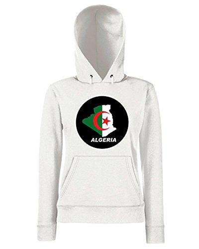 T-Shirtshock - Sweats a capuche Femme WC0005 ALGERIE ALGERIA Blanc