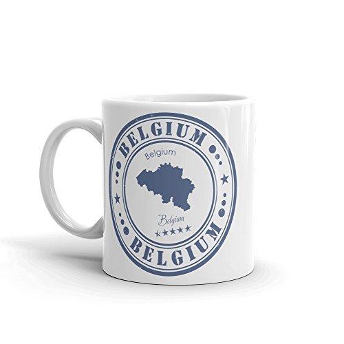 DV Mugs Ltd Tasse mit Belgien-Karte, Brüssel-Brügge, Antwerpen, Gent Europa, Reise-Geschenk-Flagge #4557 (Brügge Karte)
