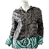 Adidas TP ZEBRA JACKET STELLA McCARTNEY Chaqueta Cortaviento Gris Verde para Mujer