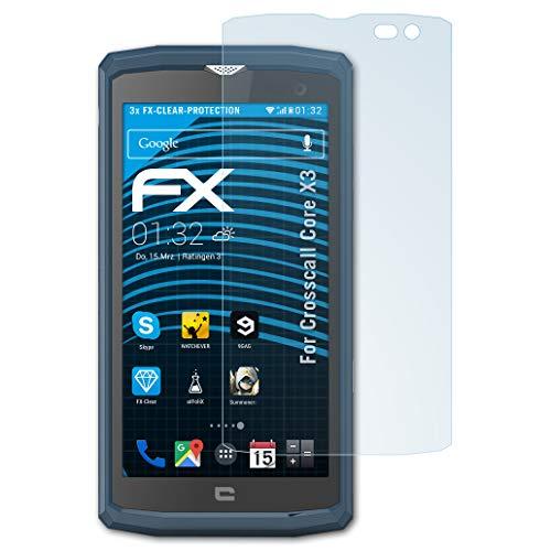 atFolix Schutzfolie kompatibel mit Crosscall Core X3 Folie, ultraklare FX Bildschirmschutzfolie (3X)