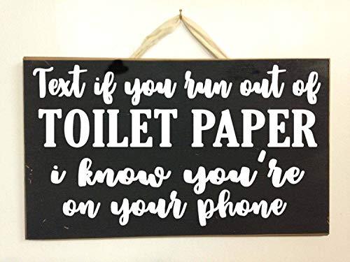 YCCCYOZ Wandschild mit Aufschrift If You Run ot of Toilette, englischsprachig