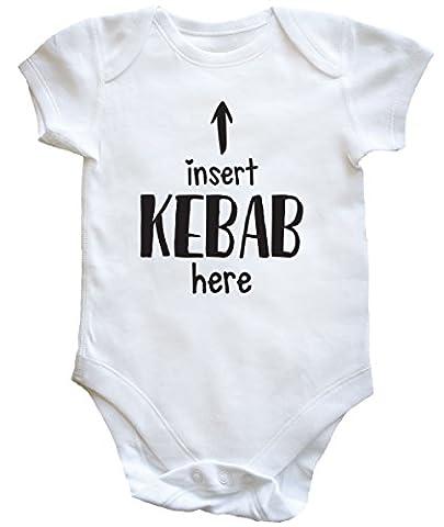 HippoWarehouse Insert Kebab Here baby vest boys