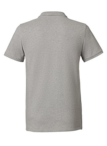 Maratus Herren Bio Polo Piqué - Poloshirt FAIR WEAR Heather Grey