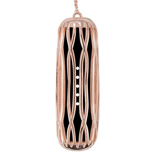 ihee Fashion Jewelry collana ciondolo in acciaio inox orologio attività Tracker accessori per Fitbit Flex 2, donna Uomo, Fashion, Rose Gold, M