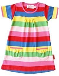 Toby Tiger Baby Girl's Organic Short Sleeved T-Shirt Stripe Dress