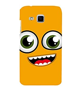 FUSON Smile Face Yellow Smiley 3D Hard Polycarbonate Designer Back Case Cover for Samsung Galaxy J3 Pro :: Samsung Galaxy J3 (2017)