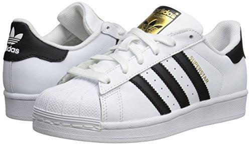 adidas Unisex-Child Superstar J Skate Shoe, White / Black, M US Big Kid