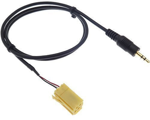 Adaptateur aUX iN 451 sMART for two alfa romeo fiat lancia mP3 iPod iPhone iPad vers câble mini iSO connecteur