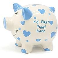 Large 'My First Piggy Bank' Blue Hearts Money Bank by Joe Davies preisvergleich bei kinderzimmerdekopreise.eu