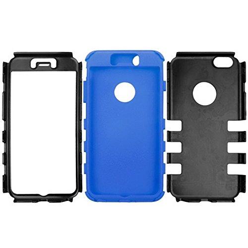 Wkae Case Cover Silikon + Hartplastik Kombination Hülle für das iPhone 6 Plus &6S plus ( Color : White ) Blue