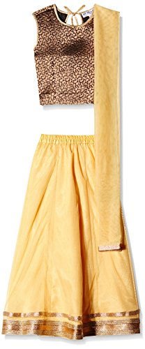 Atayant Girl Lehenga Choli (ATAYK_021_4:5YR_Black:Gold_L)