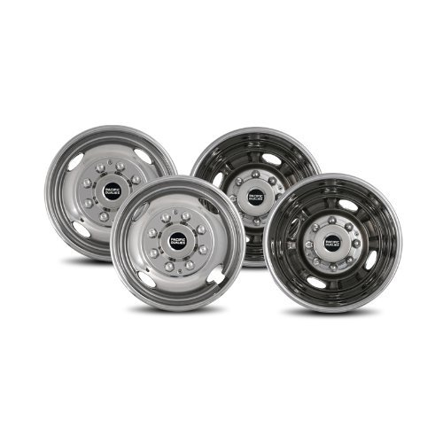 Pacific Dualies 38-1608 Polished 16 Inch 8 Lug Stainless Steel Wheel Simulator Kit for 1974-2000 Chevy GMC 3500, 1974-1998 Ford F350, 2008-2017 Ford E350/E450 Van, 1974-1999 Dodge Ram 3500 by Pacific Dualies