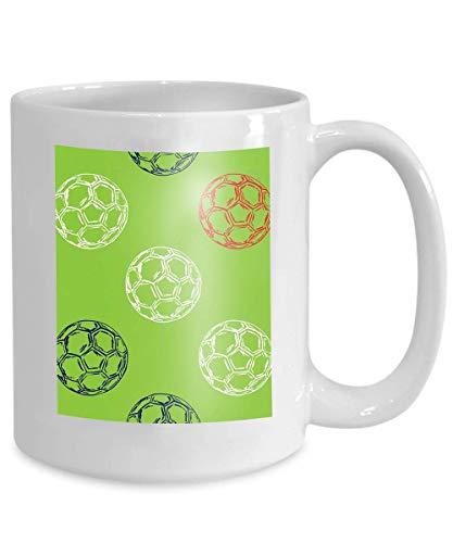 mug coffee tea cup france football championship concept pattern euro soccer ball 110z