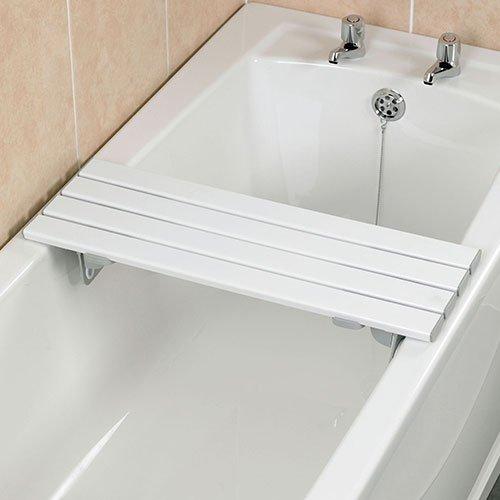 Homecraft Savanah Slatted Bath Board, 711 mm (28 in.), Bench for Elderly, Disabled, & Handicapped, Comfortable Bath Bench, Adjustable Fit Transfer Seat for Shower or Bathtub, Bathroom Safety Handle
