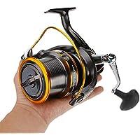 CDKZK Casting Carretes Spinning Carrete, Carrete 12 + 1BB para Carpa Agua Salada Surf Largo Casting océano mar Pesca Carrete,9000