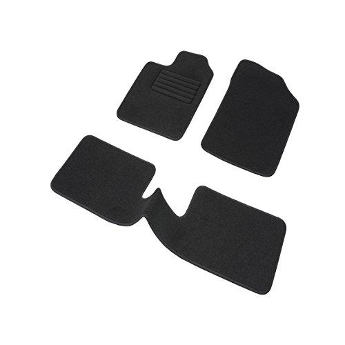 DBS 1763185 Tapis Auto – Sur Mesure – Tapis de sol pour Voiture – 3 Pièces – Antidérapant – Moquette noir 900g/m² – Finition Velours – Gamme Star Meilleure offre de prix