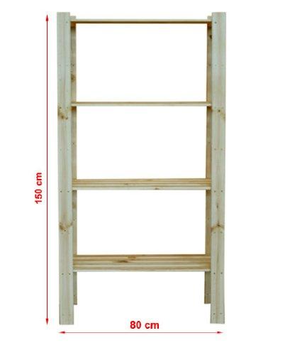 Modo24 - scaffale in legno per cantina, magazzino, libri, cucina, serie b 17-24