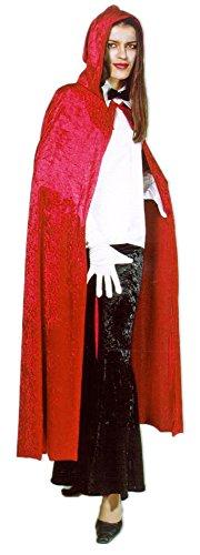 Samt Umhang mit Kapuze Rot (Samt-cape Mit Kapuze)