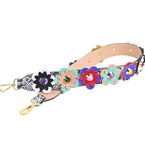 GZHOUSE 4cm breite PU Umhängetasche Lederband DIY Blume Griff Hand Tasche Gurt Ersatz (L * W: 90 * 4CM) (A) (Gurt Strap Pad Leder)