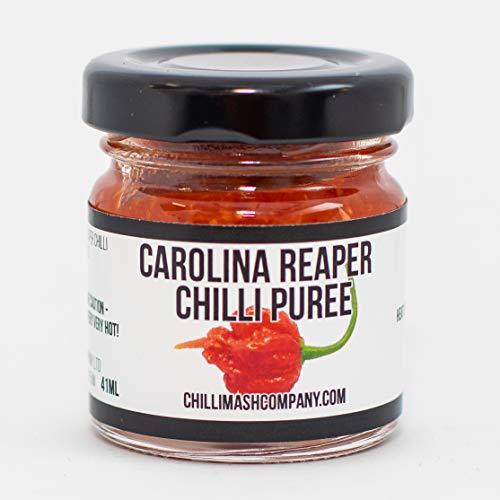 Carolina Reaper Chili Püree - UK gemacht. Hergestellt aus natürlichen Zutaten! - Extrem scharfe Kochpaste. Das weltweit heißeste Chili-Püree