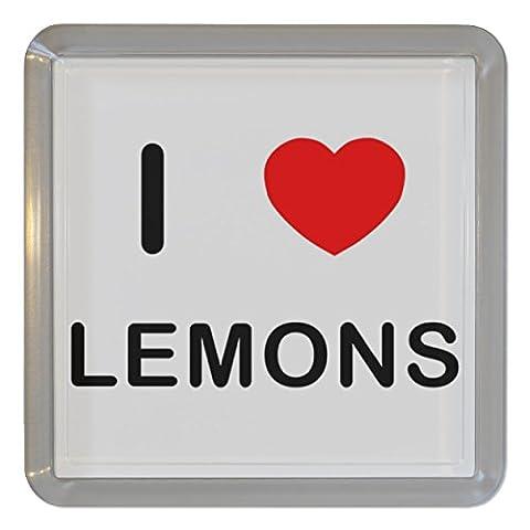 I Love Heart Lemons - Plastique transparent thé Coaster / Mat bière