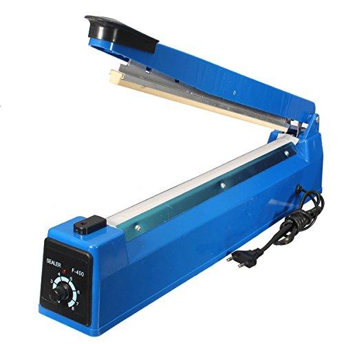 GOZAR 400Mm Hand Impuls Sealer Hitze Siegelmaschine Poly Plastiktüte Film Versiegelung (Blatt Sealer)