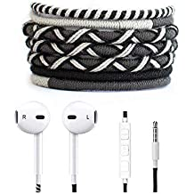 Crossloop Designer Series 3.5mm Universal In-Ear Headphones With Mic And Volume Control (Black & Grey Combination)