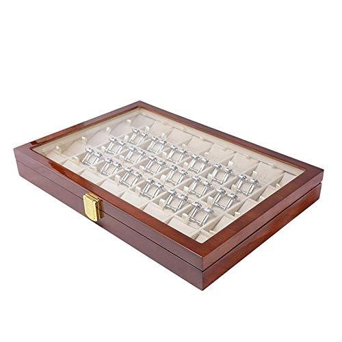 siming713 40 Paar Manschettenknöpfe für Herren und Aufbewahrungsbox für Krawattenklammern aus modisch lackiertem Holz