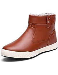 XUE - Botas de invierno para hombre, cómodas botas de nieve, botas de caña