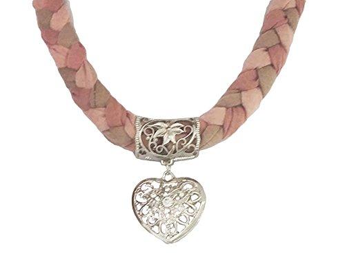 La Loria Trachtenkette elegantes Herz mit Strass