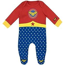 Wonder Woman - Pijama Entera para Niñas Bebés - Wonder Woman - 9 a 12 Meses