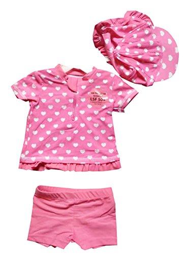 Fashion Kidswear Baby Mädchen Zweiteiler, Gepunktet, rosa (Sunsuit Dot Polka)