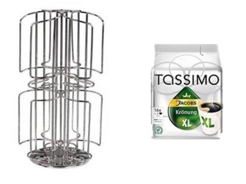 Tassimo Jacobs Krönung XL +Tassimo Kapselhalter für 48 Kapseln 2 Schächte Neu passend auch für die grossen Milchkapseln nicht nur 3 Sorten sondern bis zu 6 Sorten griffbereit