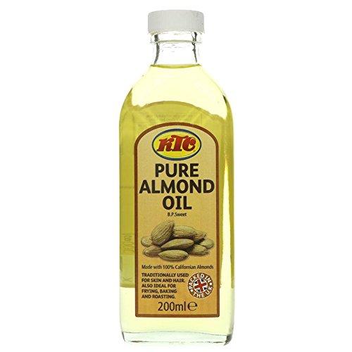 KTC Sweet Almond Refined Oil 200ml Jar - Edible, Hair, Skin Moisturiser & Conditioner - Conditioner Jar