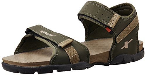 Sparx Men's Olive and Camel Brown Athletic and Outdoor Sandals - 8 UK/India(SS-109)
